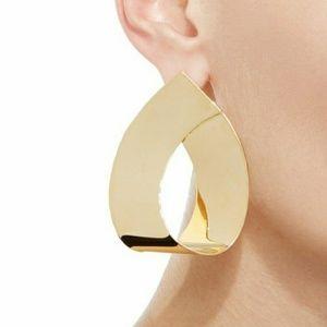 Gold Large Tear Drop Earrings